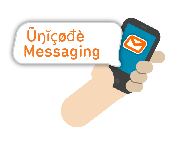Send Unicode SMS messages