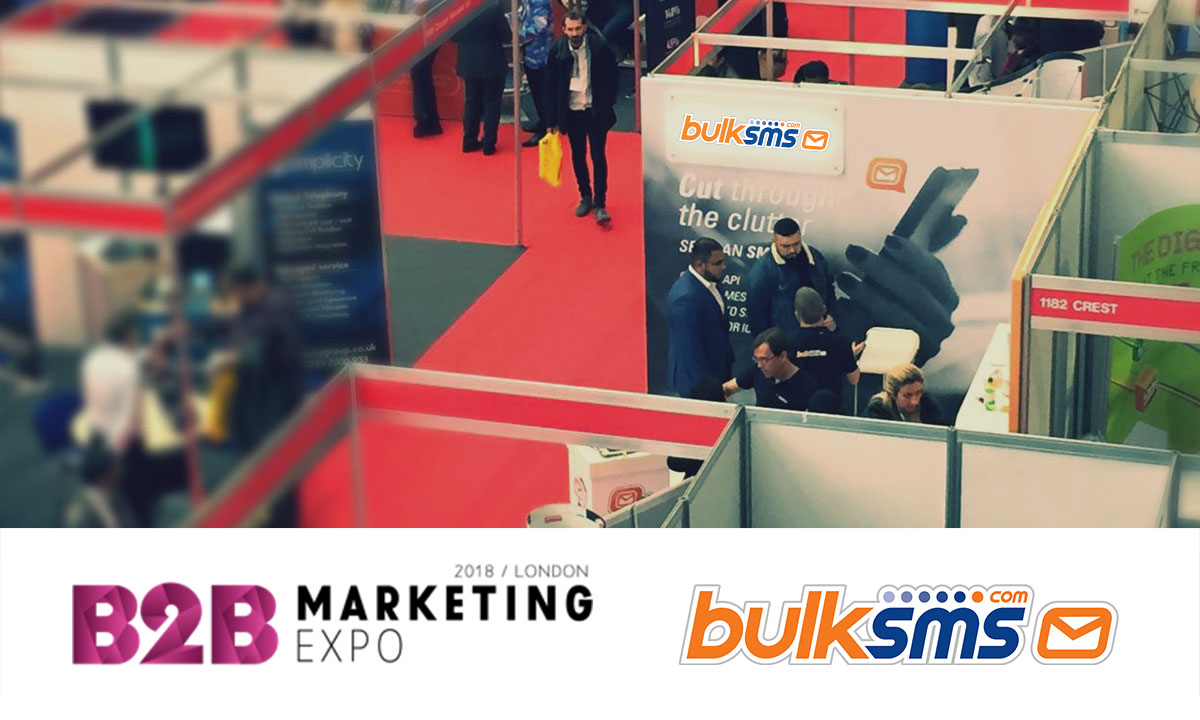 BulkSMS.com will be at The B2B Marketing Expo, Excel London