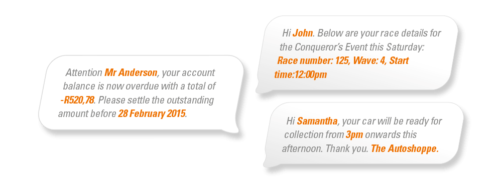 Personalise Your Messages Bulksms